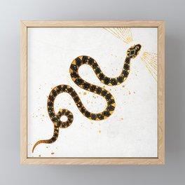 Dark Snake Inktober :: Sleep Copiously Framed Mini Art Print