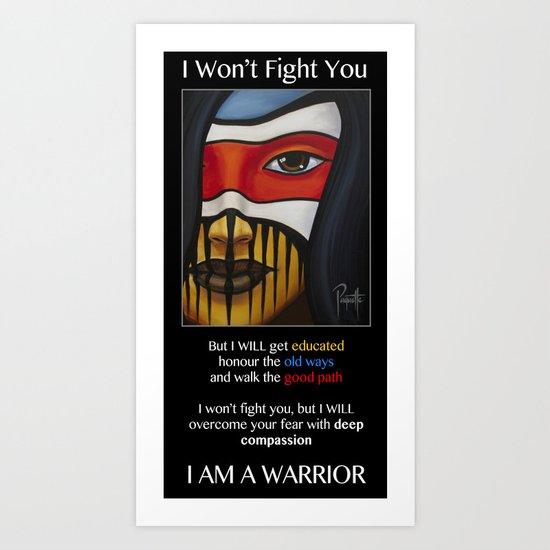 Compassion Warrior Art Print