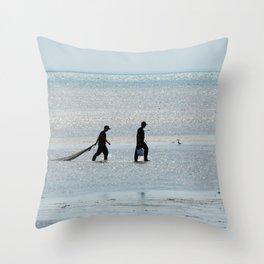 Treasure Hunters at Sea Throw Pillow