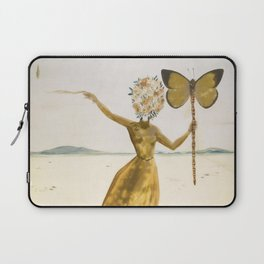 Vintage poster-Salvador Dali-Woman with a butterfly.  Laptop Sleeve