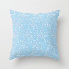 pattern blue Throw Pillow