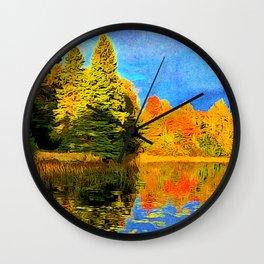 Lone Tree Lake in Northwoods, WI Wall Clock