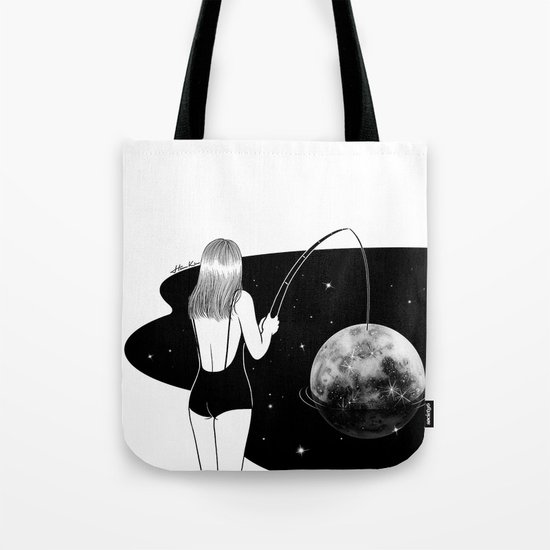 I just got mooned Tote Bag
