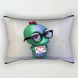 Dino love Rectangular Pillow