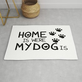 Home is were dog is Rug