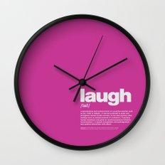 definition LLL - Laugh 9 Wall Clock