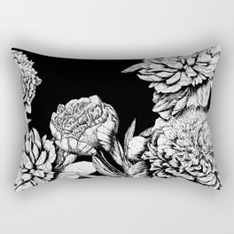 FLOWERS IN BLACK AND WHITE Rectangular Pillow