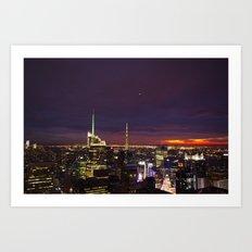 NYC from Rockefeller Art Print