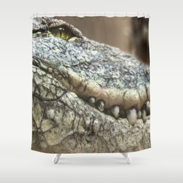 Wildlife Collection: Crocodile Shower Curtain