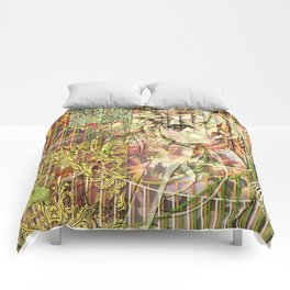 Jeune fille de joie usine (Factory girl joy) Comforters
