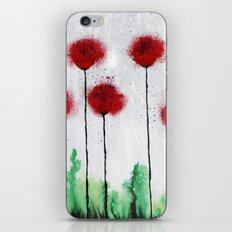 Red Wildflowers iPhone & iPod Skin