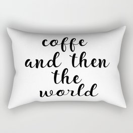 Coffee Bar Decor, Coffee Sign, Kitchen Decor, Kitchen Wall Art Rectangular Pillow