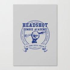 Headshot Zombie Academy Canvas Print