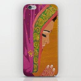 Henna Prayer Hands iPhone Skin