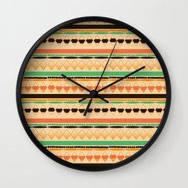 Aztec Geometric Wall Clock