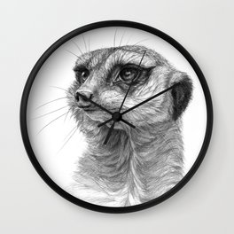 Meerkat-portrait G035 Wall Clock