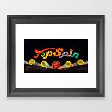 Top Spin Framed Art Print