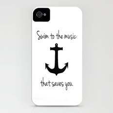 Swim To The Music That Saves You. iPhone (4, 4s) Slim Case