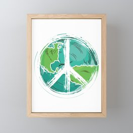 Peace Sign Hippie | Come Together Framed Mini Art Print
