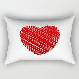 Scribbled heart Rectangular Pillow
