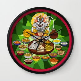 Hanuman's Meal Wall Clock
