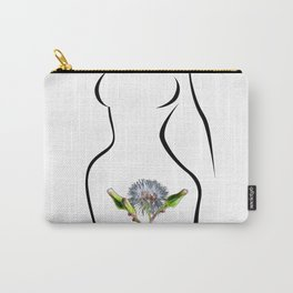 The woman and flower Carry-All Pouch