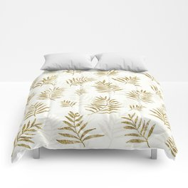 Gold Autumn Leaves Comforters