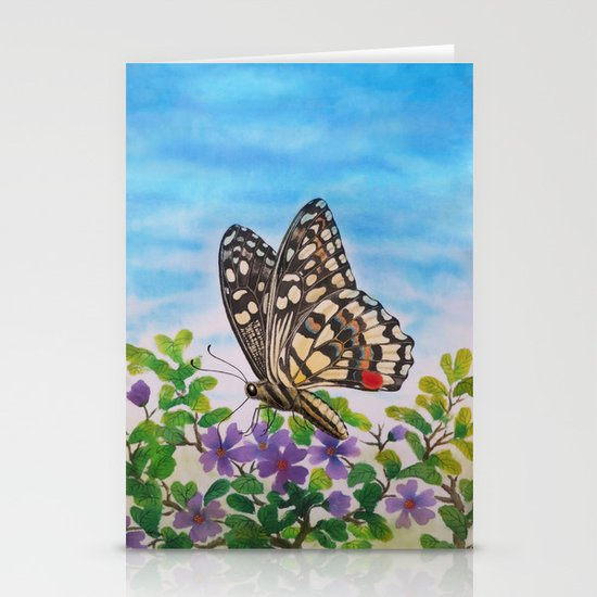 Chequered swallowtail  Stationery Cards