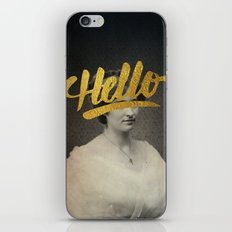 Vintage Quotes Collection -- Hello iPhone & iPod Skin