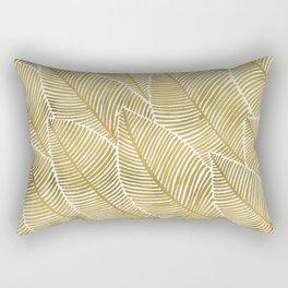 Tropical Gold Rectangular Pillow