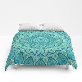 Turquoise Treat - Mandala Art Comforters