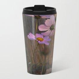 Fall Flowers Metal Travel Mug