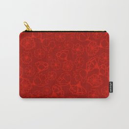 Vintage warm red flowers Carry-All Pouch