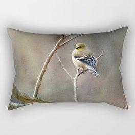 Morning Goldfinch Rectangular Pillow