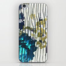 Blue Floral iPhone & iPod Skin