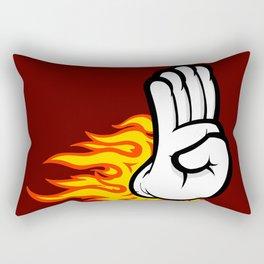 Flaming Palm Rectangular Pillow
