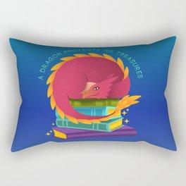 A Dragon Protects His Treasure blue version Rectangular Pillow