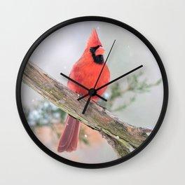 """""""Say What?"""" (Northern Cardinal) Wall Clock"""