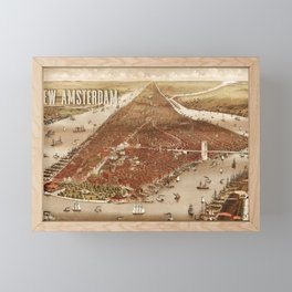 New Amsterdam - 1880 Framed Mini Art Print