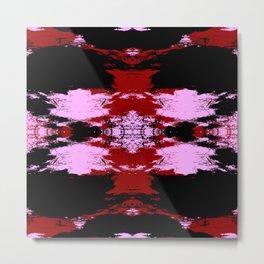 Hisamomo - Pink Red Black Colorful Abstract Art Pattern Metal Print