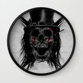 Skull Hat Wall Clock