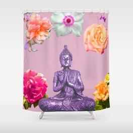 Lavender Buddha Shower Curtain