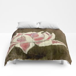 White and Pink Lotus Comforters