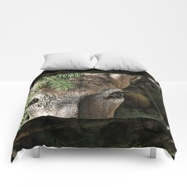 Whitetail Doe Camouflaged Deer Comforters