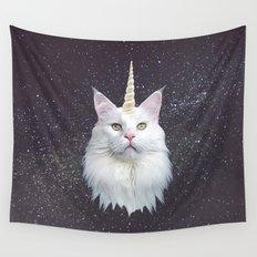 Unicorn Cat Wall Tapestry