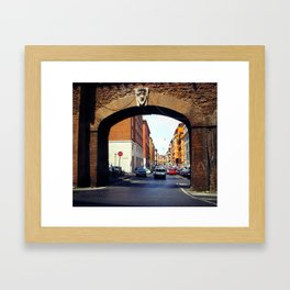 Streets of Roma  Framed Art Print