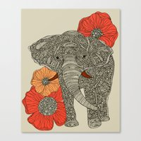 contact Canvas Prints featuring The Elephant by Valentina Harper