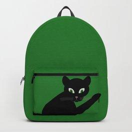 BLACK CAT, GREEN EYES Backpack
