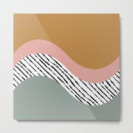Hand drawn Geometric Line Pattern III Metal Print