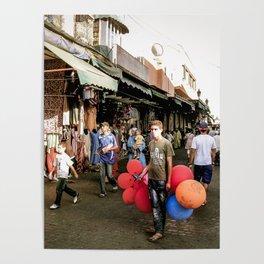Boy and Balloons, Moroccco Souq Poster